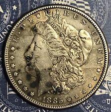 1885 Morgan Silver Dollar Old US Collector Coin. FREE SHIPPING