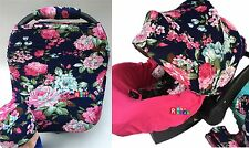 Whole Caboodle CarSeat Canopy 9pc Set Stretch Baby Car Seat Cover Headrest.New