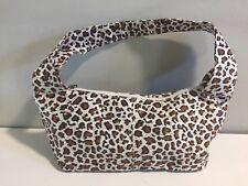 NWT Neiman Marcus Leopard Print Cheetah Print Makeup Bag Cosmetic Purse Zip Up