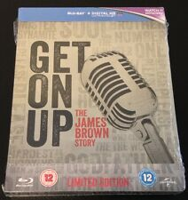 GET ON UP Limited Edition Blu-Ray SteelBook UK. The James Brown Story. New!