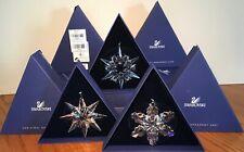 Swarovski Ae Christmas Ornament Snowflakes 2007, 2008, 2009 - Set of 3 - Retired