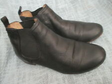 FRYE WOMENS BLACK LEATHER ANKLE BOOTS, SIZE 8M