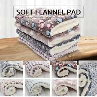 Pet Mat Paw Print Cat Dog Bed Puppy Cushion Mattres Fleece Soft Warm Blanket Dog