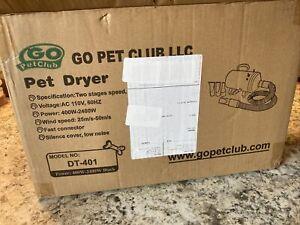 Go Pet Club DT-688 Step-Less Adjustable Speed Pet Dryer, Black