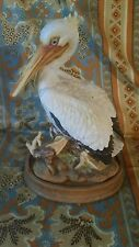 "Rare Large Andrea by Sadek White Pelican Shore Bird 9.5""H"