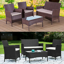 Rattan Garden Furniture Set Patio Conservatory Indoor Outdoor 4 Chairs Table