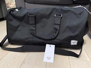 NWT Herschel Supply Co. Ravine Duffle Bag- Black 20.5x11x8.5 Carry On Size