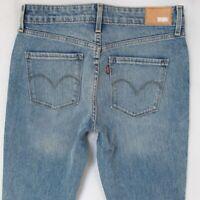 Damen Levis 19970 High Rise Skinny Stretch Blau Jeans W28 L32 Eu Größe