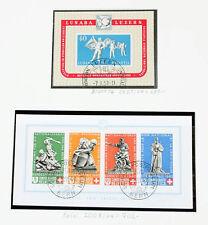 Schweiz 1850/2001 Sammlung ab Rayon, teure Blocks, PAX Serie in 2 Lindner Alben