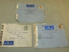 3 x 1941 Prisoner of War Mail Small envelope from Home to Algeria North Africa