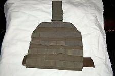 USGI US MILITARY SINGLE POINT LEG PANEL W STRAP MOLLE II FOREST GREEN EAGLE IND