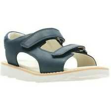 Clarks Crown Root K Ankle Strap Leather Sandals. Navy. UK Size 1.5 F EU 33