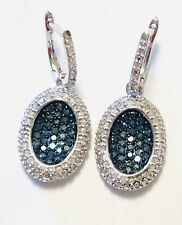 Blue And White Diamond Earrings Aneri Collection Presents 0.50 Ct