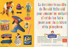 Publicité 1997  (Double page)  DANONE MC DONALD'S un happy meal une ronaldise