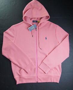 POLO RALPH LAUREN Men's Big & Tall Salmon Pink Double Knit Full Zip Hoodie NWT