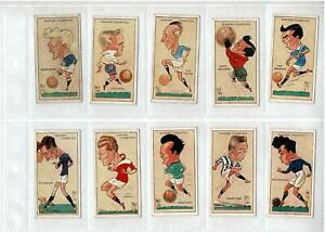 1930's PLAYERS CIGARETTE CARDS FOOTBALL CARICATURES by 'MAC' - FULL SET 50 VG