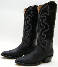 WOMENS NOCONA BLACK GENUINE STINGRAY TALL COWBOY WESTERN BOOTS SZ 4 B 4B