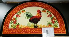 "PRINTED NYLON KITCHEN RUG (18""x 30"") ROOSTER, by ST, slice"