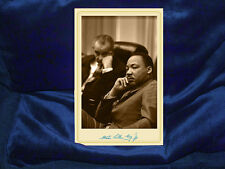 MARTIN LUTHER KING, JR Cabinet Card Photograph, Bio & Autograph History