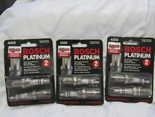 NEW BOSCH 4303 PLATINUM 3 packs of 2 total 6 spark plugs New  F00E120034