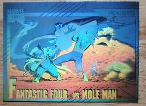 1991 Marvel Universe Impel Hologram Card - Fantastic Four vs Mole Man H-5 💥
