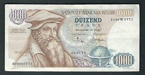 Belgium -  1975, 1000 Francs