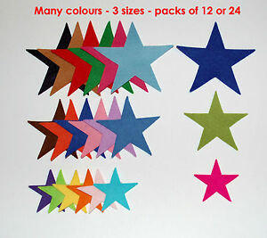 Die Cut Felt Stars Mixed Size Pack Embellishment Toppers Xmas Christmas