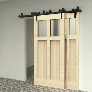 Sliding Barn Door Hardware Track Kit for Bypass 2 Doors/4 Doors Y Shape