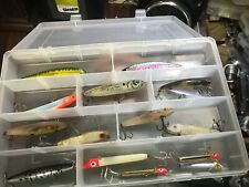 Plano box containg 15 assorted fishing lures