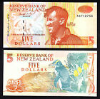 New Zealand $5 5 Dollars Brash Type II 1992-1997 UNC Note P. 177 Sir E. Hillary