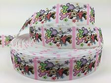 "BTY 1"" Disney Minnie Mouse With Balloons Grosgrain Ribbon Hair Bows Lisa"