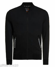 """NEW £70 SUPERDRY LARGE 40"""" CHEST BLACK GYM TECH BOMBER JACKET"""