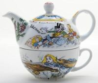 New boxed Paul Cardew Alice in Wonderland tea for one teapot & cup