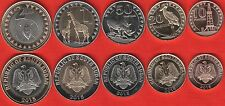 South Sudan set of 5 coins: 10 piasters - 2 pounds 2015 UNC