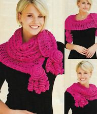 Roses & Lace Scarf Women'S Crochet Pattern Instructions