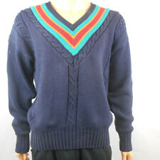 Womens Abercrombie & Fitch Navy Blue Green Red Orange Sweater Size L Large
