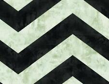 Wallpaper Modern Abstract Black and Putty Gray Large Chevron