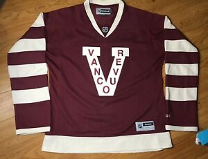 BNWT Womens Reebok Premier Vancouver Millionaires Canucks Jersey NHL Hockey