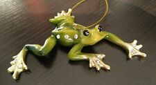 December Diamonds Green Frog Zoology Christmas Ornament New