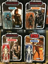 "Star Wars TVC 3.75"" The Mandalorian, Cara Dune, Clone Trooper & Remnant (MOSC)"