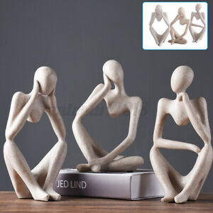 Sandstone Resin Abstract Sculpture Thinking Thinker Statue Home Decor Xmas Gifts