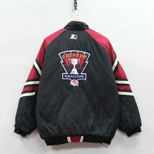 Vintage 1996 Grey Cup Puffer Starter Jacket Large 90s CFL TSN Argonauts Eskimos