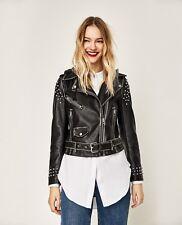 Zara Leather Jacket 2017 HOODED JACKET 3046/246