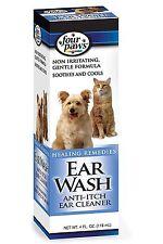 FOUR Paws CANE GATTO rilassante Raffreddamento anti-prurito da orecchio lavaggio pulisce le orecchie 118ML 01734