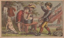Victorian Trade Card-Buchan's Carbolic Laundry Soap NYC-Washing Doll Clothes