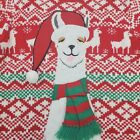 JOLLY SWEATERS Unisex Llama Alpaca Holiday Ugly Christmas Sweater Medium EUC