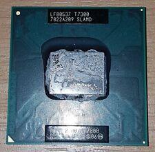 Intel Core 2 Duo T7300 2.0GHz 4MB 800 Laptop Processor CPU SLAMD - FREE Post