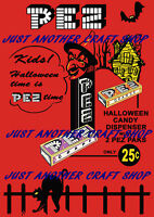 Pez Halloween 1959 Candy Dispenser A3 large size vintage Poster advert sign