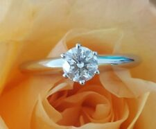 Tiffany & Co 0.52ct H/VS2 Classic Solitaire 6 Prong Diamond Engagement Ring