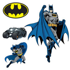 Batman DIY Pre-Cut Wall Decal Pack of 9 Stickers for Kids Room Decor